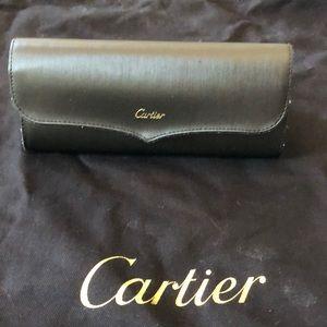 Cartier Santos Dumont Black men's sunglasses